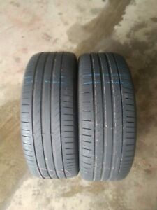 2x 235/45/19 CONTNENTAL CSC5 TYRE 5mm TESTED 2354519 235 45 19 NO REPAIRS