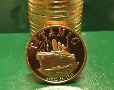 """1 """" Titanic April 15, 1912 """" -1 OZ .999 FINE SOLID COPPER BULLION ROUND/COIN"""