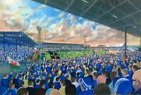 Ninian Park Stadium Fine Art A4 Print -  Cardiff City Football Club