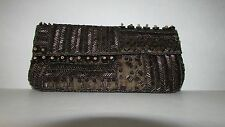 Kc Malhan Clutch Purse Bag Bead Sequin Cloth