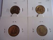 3x  5 Pfennig 1969 DGJ bankfrisch