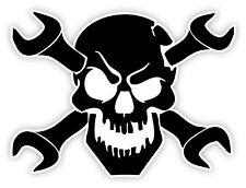 Cranio skull chiave wrench schädel Crâne череп etichetta sticker 12cm x 9cm