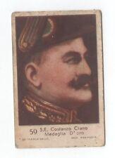 12011 fascismo figurina marca gallo costanzo ciano medaglia d'oro n° 50 anni 30