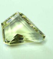 Rare kite shaped natural yellow Orthoclase...6.68 carat