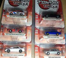 Greenlight Tokyo Torque 2 Full Set of 6* Nissan Skyline-BRE Datsun 510 + MORE