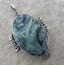 "Handmade Kambaba Jasper Gemstone 925 Sterling Silver Pendant 2.25"" #P17946"