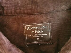 Abercrombie & Fitch men's brown corduroy long sleeve shirt size M