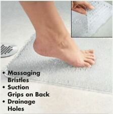 Lg EASY FOOT SCRUBBER Grass Bath Mat with Suction Grips Safety Cleans Massages