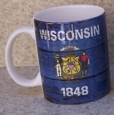 Coffee Mug Explore America Wisconsin State Flag NEW 11 ounce cup with gift box