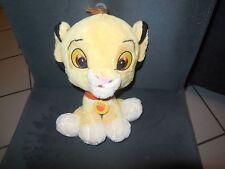 doudou peluche roi lion Simba grosse tête DISNEY 23cm (2 dispo)