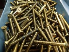 2  BA   Brass Countersunk   Screws - Slotted   -   2     INCH x 10