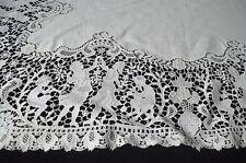 Fabulous Vintage Italian Needlepoint Linen Runner Tablecloth Tt443