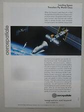 11/1989 PUB AEROSPATIALE VAISSEAU HERMES SPACE SYSTEM ARIANE 5 ORIGINAL AD