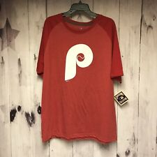 Philadelphia Phillies Cooperstown Red Big P Shirt Large