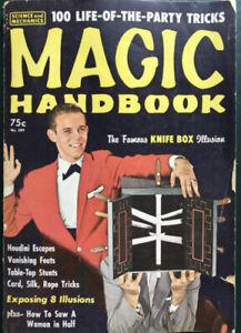 MAGIC HANDBOOK - 1962 RARE - 160 PAGES OF SECRETS