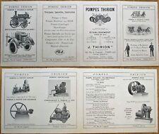 Fire/Firefighting Supply 1910 Pump/Uniform Advertising Brochure/Catalog - Paris