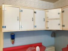 Vintage Retro 1950s Kitchen Wall Cupboards, 3 units.