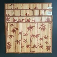 Logs Caribbean Bamboo Placemats (Set of  4)  Bamboo Leaves Brown Beige 12 x 18