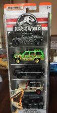 2018 matchbox jurassic world 5 pack Mercedez/Hummer/Jeep/Explorer RARE