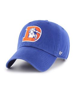 Denver Broncos 47 Brand Clean Up Hat Adjustable Cap Retro