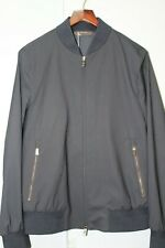 Ermenegildo Zegna Elements Zip-Up Bomber Jacket Color:Navy Size 48 R Msrp $ 2495