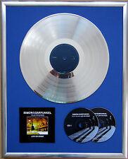 """Simon & Garfunkel Live gerahmte CD Cover +12"""" Vinyl goldene/platin Schallplatte"""