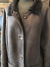 Lammfelljacke Jacke echt Leder Guter Zustand, Gr. 36 Innen komplett Pelz