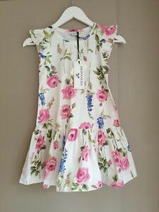 Monnalisa Designer Girl's Floral Summer Dress Size 8 - 9 Years - BNWT