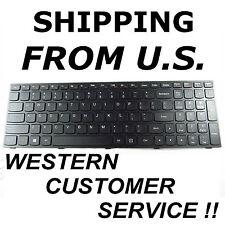 NEW US English Keyboard Lenovo Ideapad 300-15ISK 300-17ISK 300-15IBR black frame