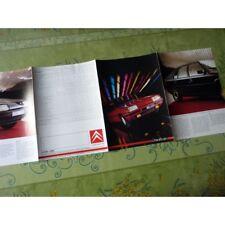 Citroën BX 19GT et autres, catalogue brochure dépliant