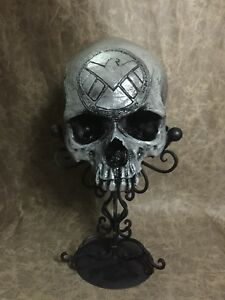Shield Carved Replica of Real Human Skull by Zane Wylie - Captain America