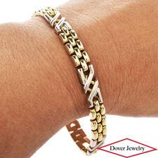 Italian 14K Gold  ''X'' and Jubilee Style Link  Bracelet 15.9 Grams NR