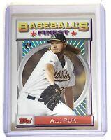 2020 Topps Finest Flashbacks #146 AJ Puk RC Rookie Oakland Athletics