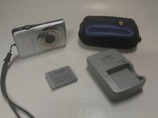 Canon PowerShot Digital ELPH SD1300 IS / IXUS 105 12.1MP Camera Silver Tested