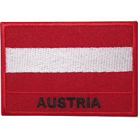 Austria Flag Embroidered Iron Sew On Patch Austrian Jacket Bag Embroidery Badge
