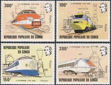 Congo 1981 George Stephenson/Steam Engines/Trains/Rail/Railways 4v set (b7786a)