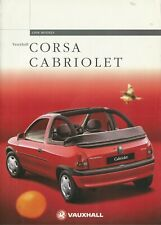 VAUXHALL CORSA CABRIOLET 1998 MODELS BROCHURE. V10528 02.98 [UK-MARKET]
