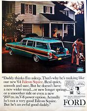 Vtg 1964 Ford Falcon squire car Peanuts Charlie Brown advertisement print ad art