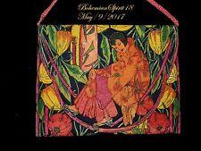 Rare Antique Art Nouveau Hand Painted Colorful Flowers/Women Purse Handbag