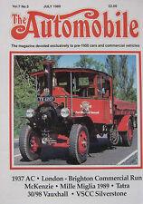 The Automobile magazine 07/1989 featuring AC, Tatra, Vauxhall, McKenzie