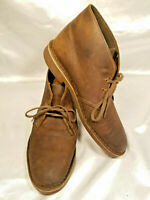 CLARKS Shoes Mens sz 9M Brown Leather 2 Eye Lace up Ankle Desert Chukka Boots