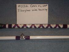 Cote's fly shop custom fiberglass fresh water wire trolling rod 9' 2 pc (#15)