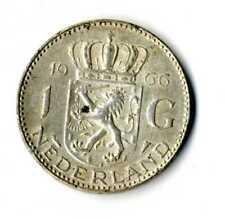 Moneda Holanda 1966 1 Florin Juliana plata 0.720 silver coin Nederland