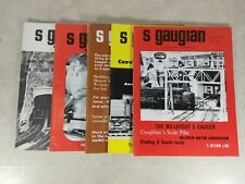 The S Gaugian Newsletter Magazine 1974-75 mixed lot 5 Issues Model Trains T33-B