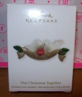 2012 HALLMARK KEEPSAKE CHRISTMAS ORNAMENT OUR CHRISTMAS TOGETHER NEW IN B