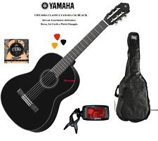 YAMAHA C40II BLACK CHITARRA CLASSICA 4/4 NERA KIT BORSA + ACCORDATORE + CORDE