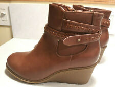 Brand New Avenue Alanna Wedge Ankle Bootie Boots sz 11W Orig $75 Free Shipping!
