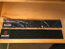 Bacardi Rum Liquor Black Rubber Bar Mat-Spill Rail-Game Room-Man Cave NEW