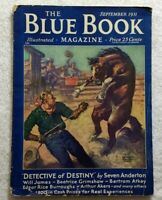 BLUE BOOK MAGAZINE Sept 1931 • EDGAR RICE BURROUGHS • WILL JAMES Western Cowboys
