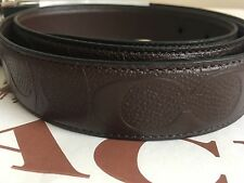 NWT COACH F55158 MODERN HARNESS CUT-TO-SIZE REVERSIBLE SIGNATURE LEATHER BELT